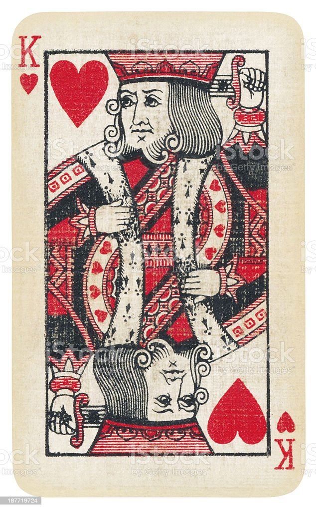 Playing card Isolated (clipping path included) stock photo