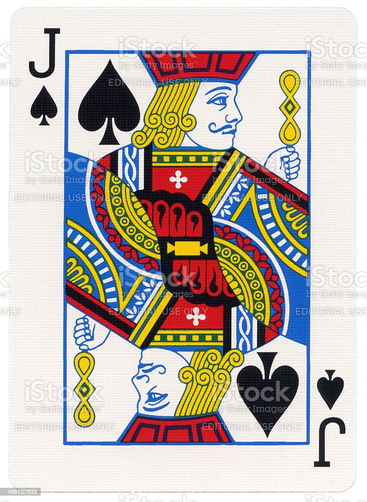 Playing Card - Jack of Spades stock photo