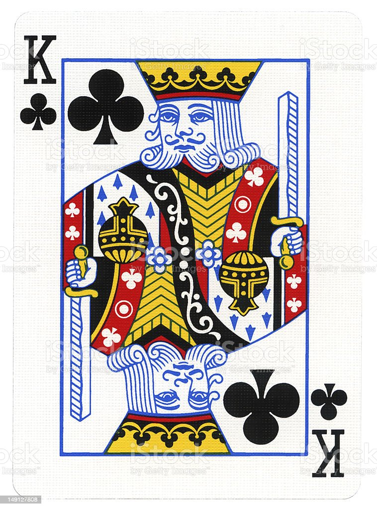Playing Card - King of Clubs stock photo