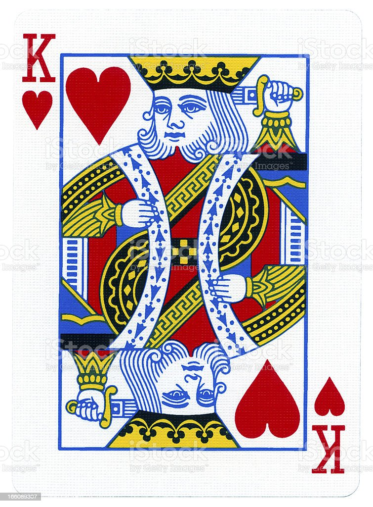 Playing Card - King of Hearts stock photo