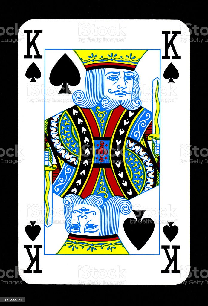 Playing Card: King of Spades royalty-free stock photo
