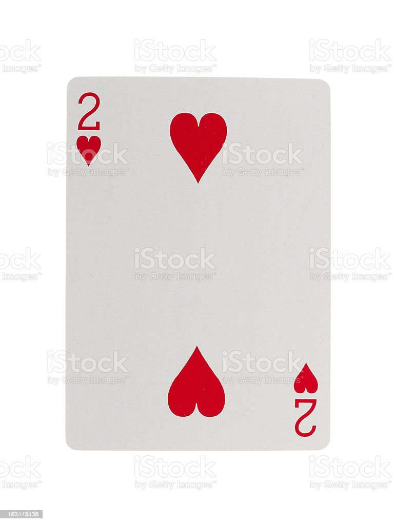 Playing card (two) royalty-free stock photo