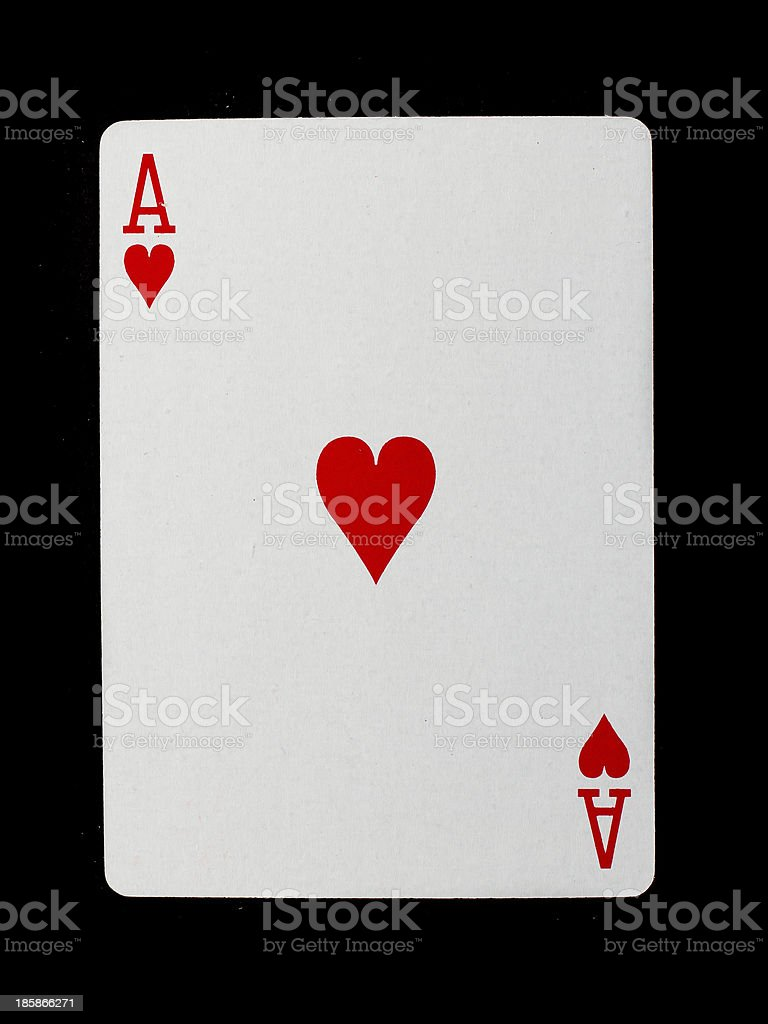 Playing card (ace) royalty-free stock photo