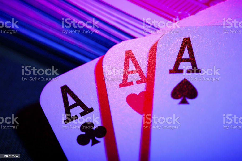 playing cards aces colorful royalty-free stock photo