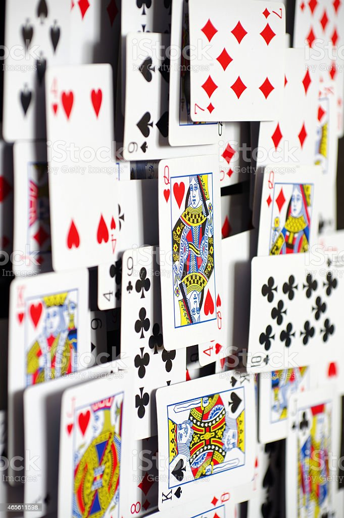 playing cards backgrounds five stock photo