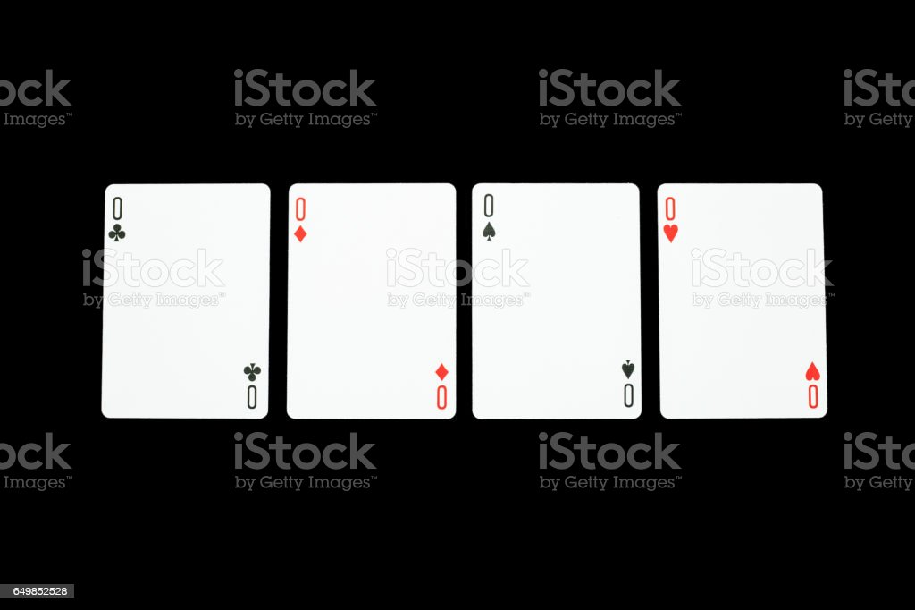 Playing cards black background  wallpaper stock photo