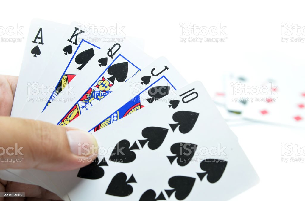 Playing cards isolated stock photo
