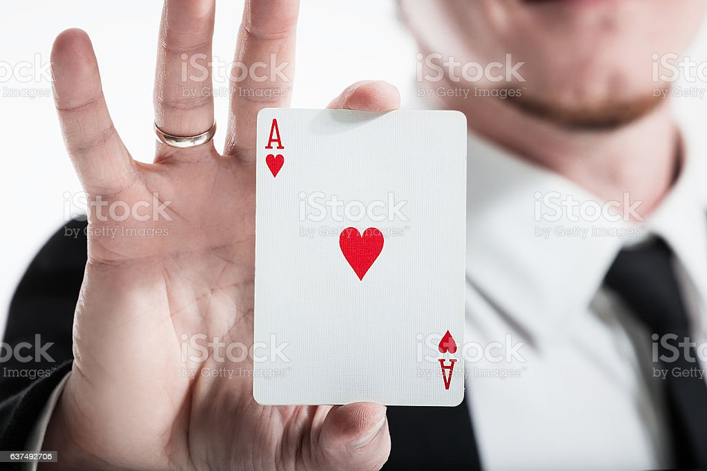 playing cards luck. focus. stock photo
