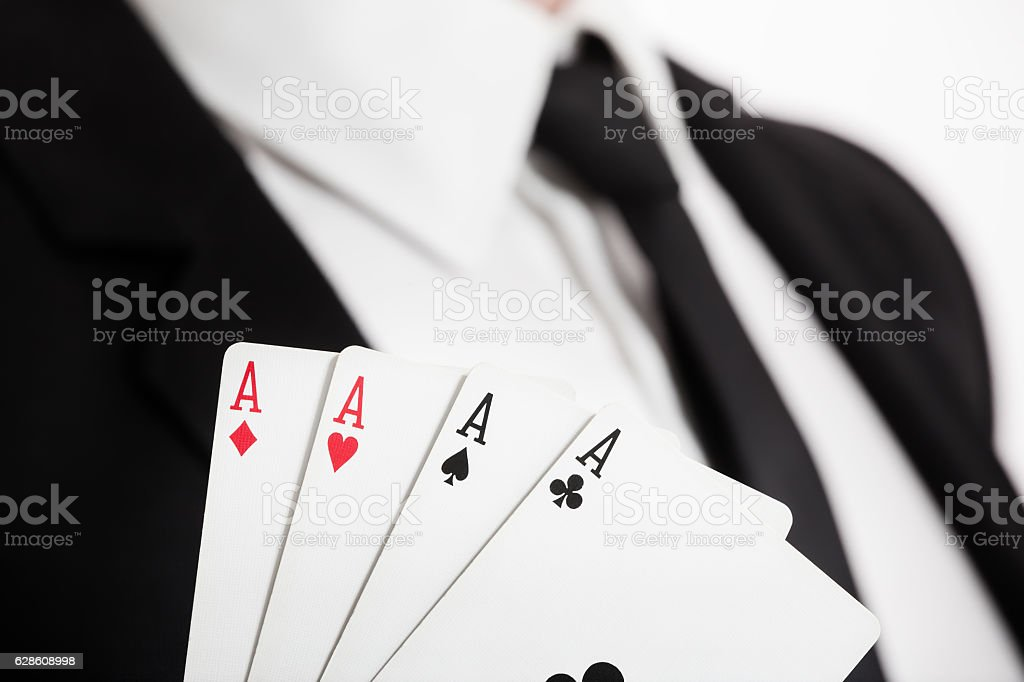Playing cards luck. stock photo