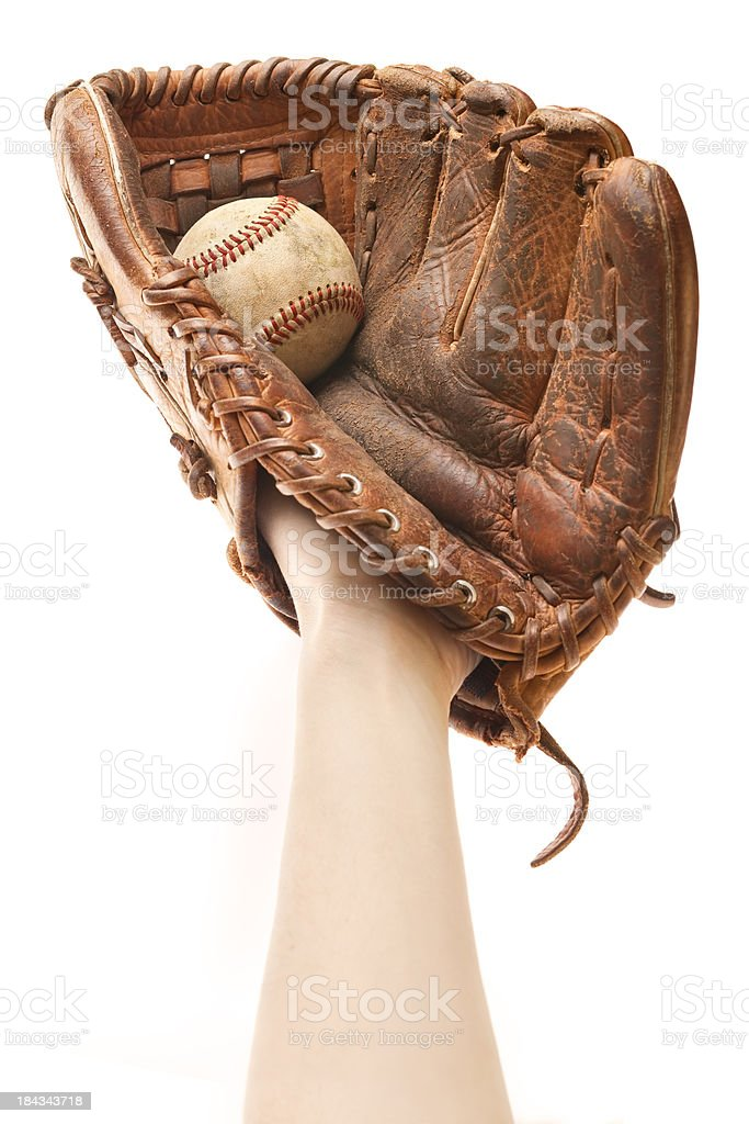 Playing Catch - Baseball Glove stock photo