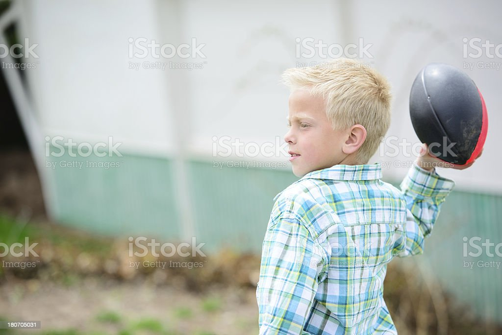 Playing Catch royalty-free stock photo