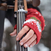 Playing Cello Outdoor