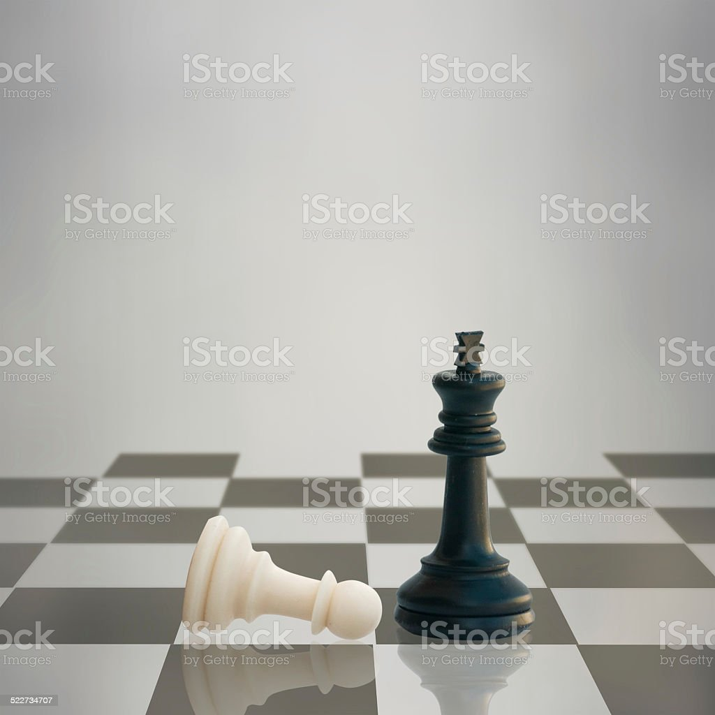 Playing chess game stock photo