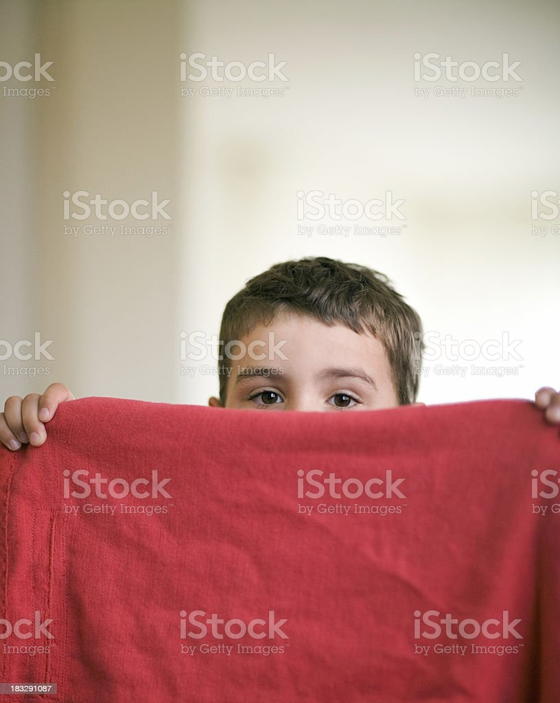 playing child hide and seek royalty-free stock photo