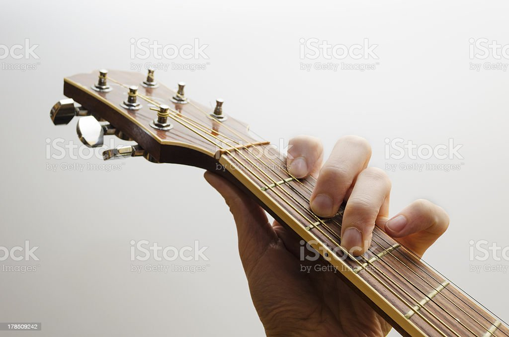 Playing classical guitar stock photo