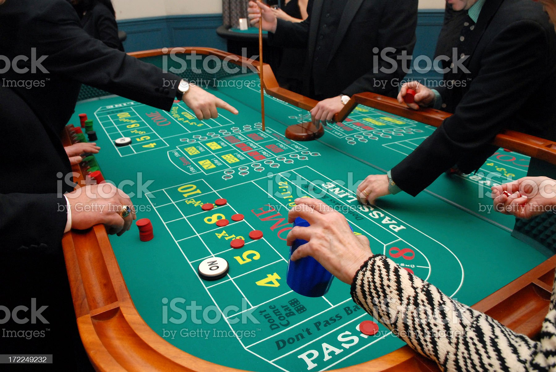 Playing craps royalty-free stock photo