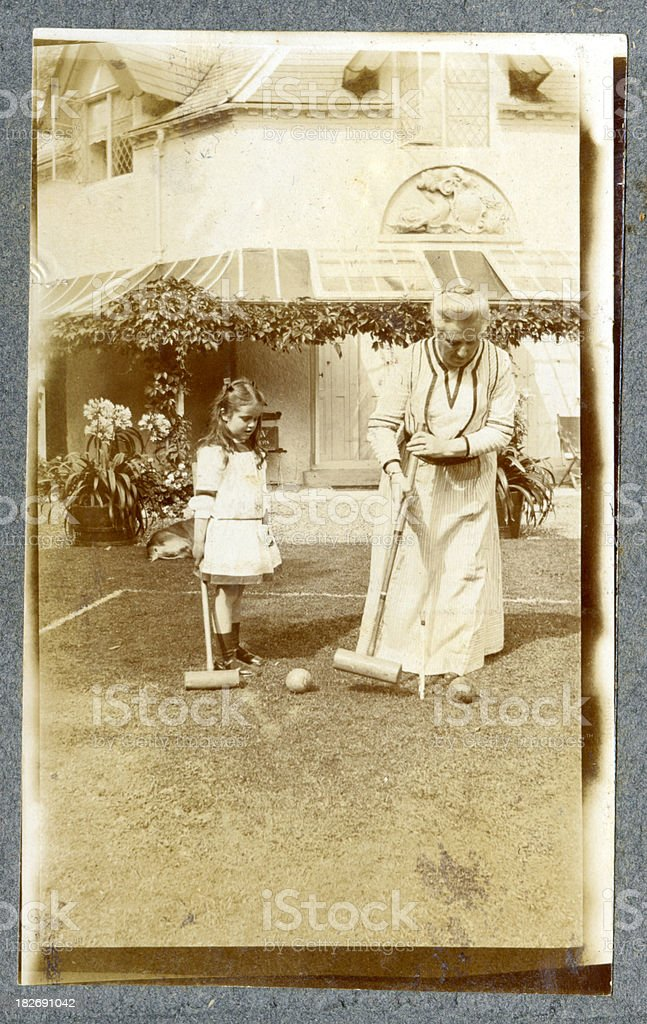 Playing Croquet royalty-free stock photo