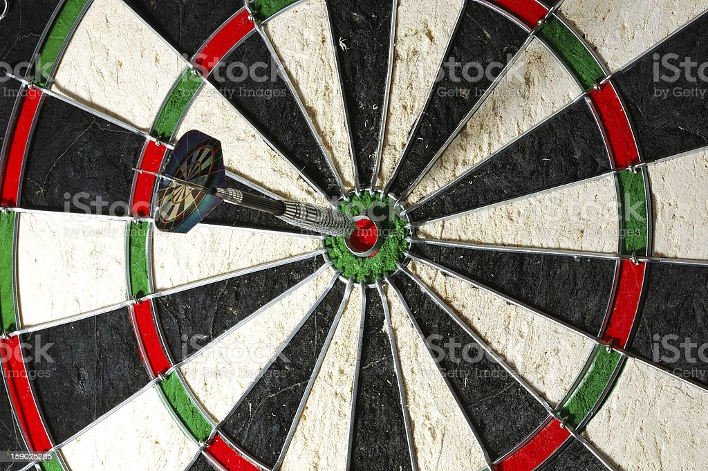 Playing darts royalty-free stock photo