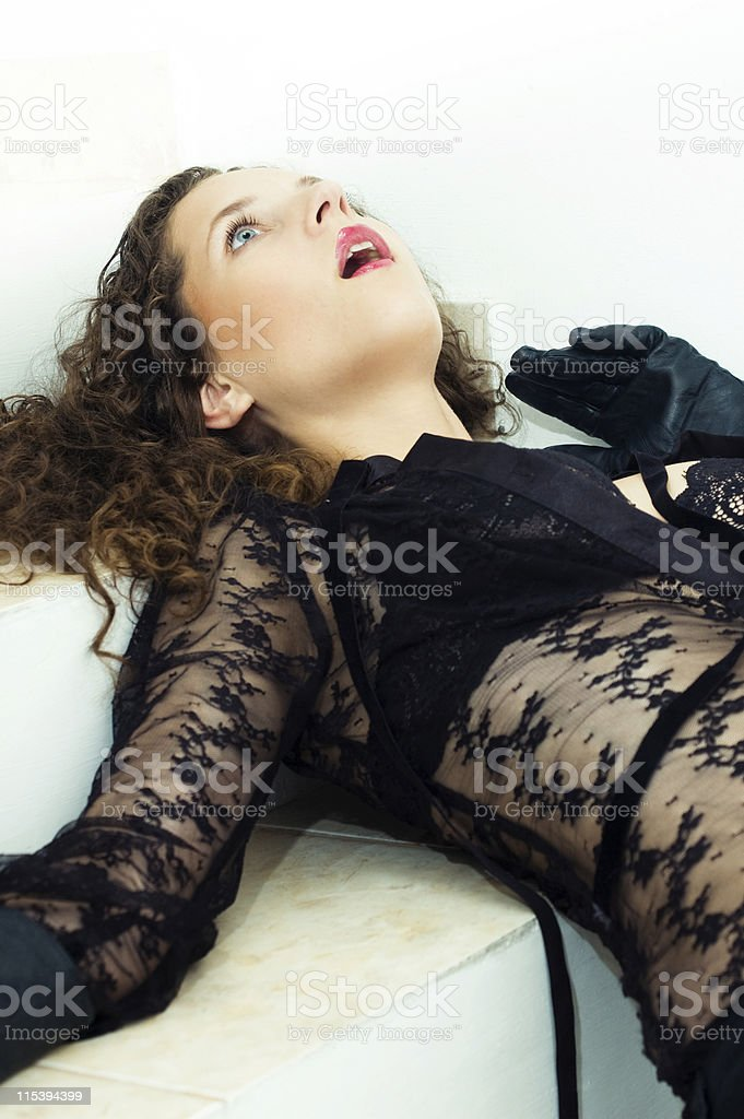 playing dead stock photo