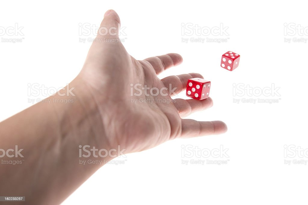 Playing Dice royalty-free stock photo