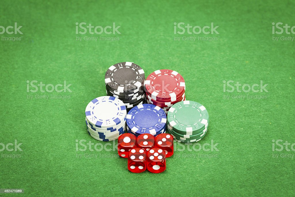 Playing Dices royalty-free stock photo