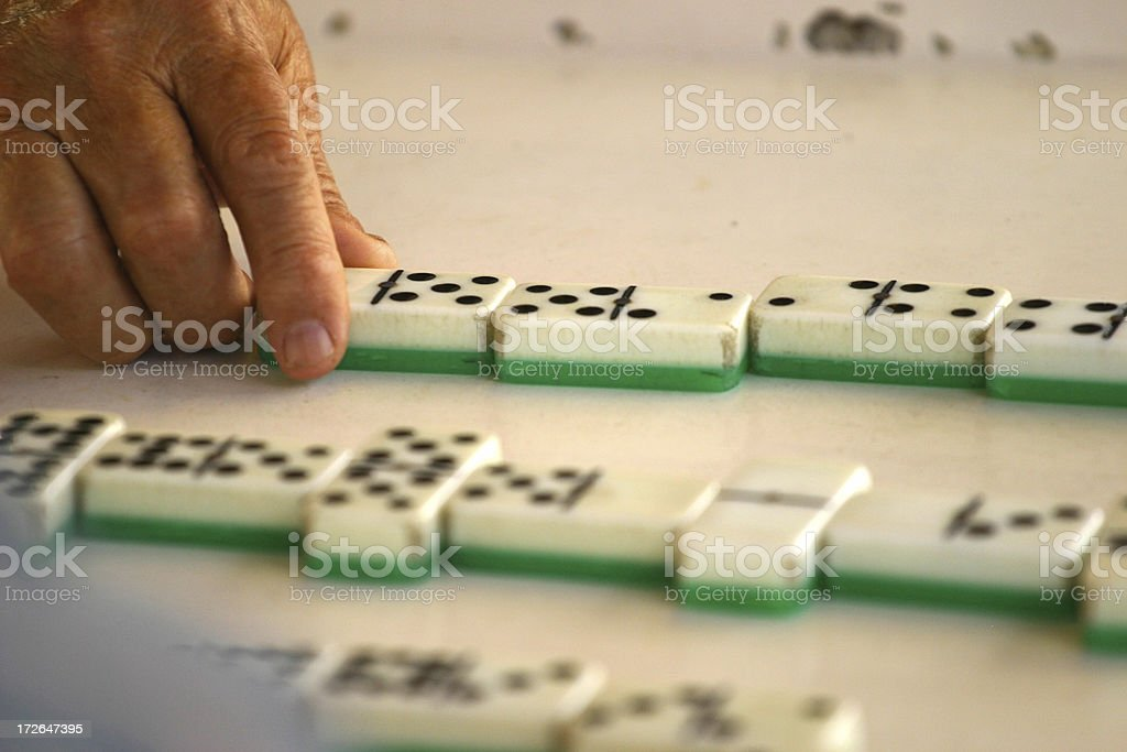 Playing Domino Game royalty-free stock photo