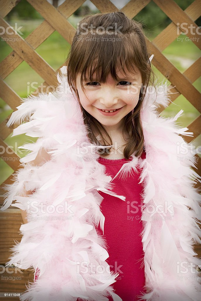 Playing dress up royalty-free stock photo