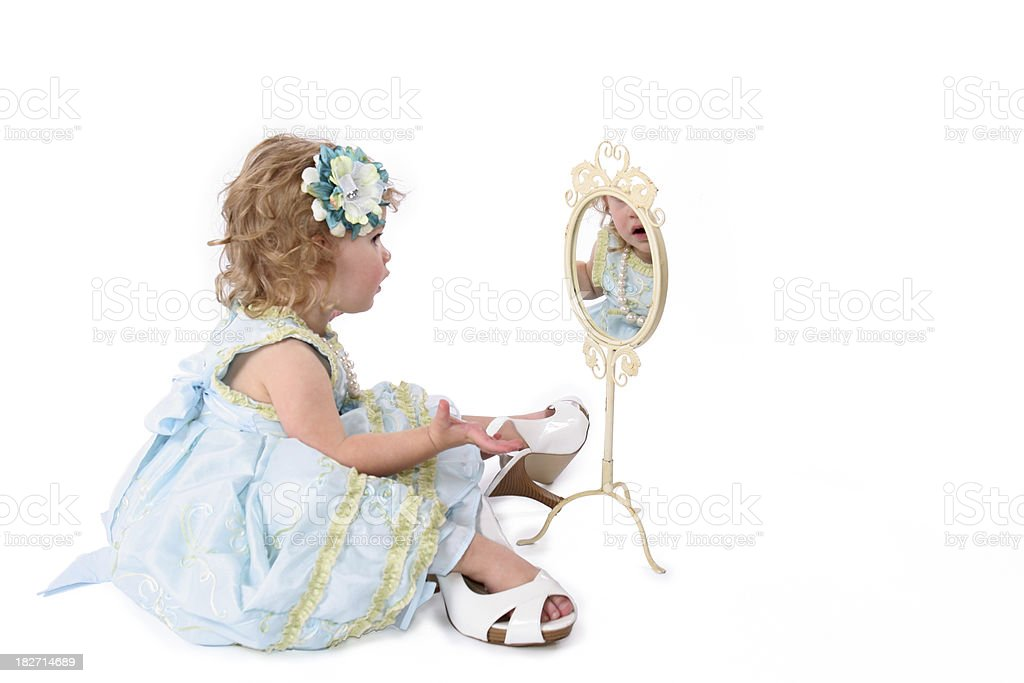 Playing Dress-up royalty-free stock photo