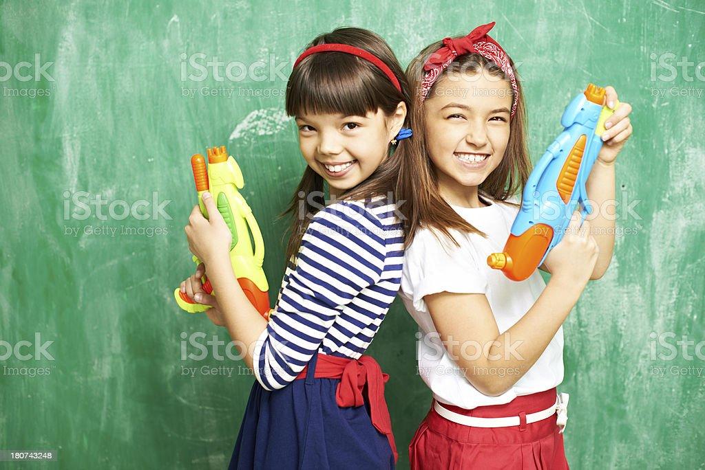 Playing during school break royalty-free stock photo