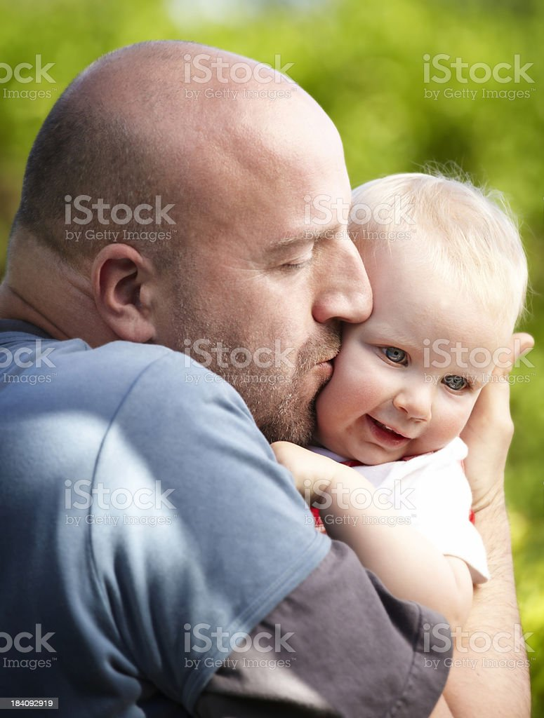 playing father with little daughter royalty-free stock photo