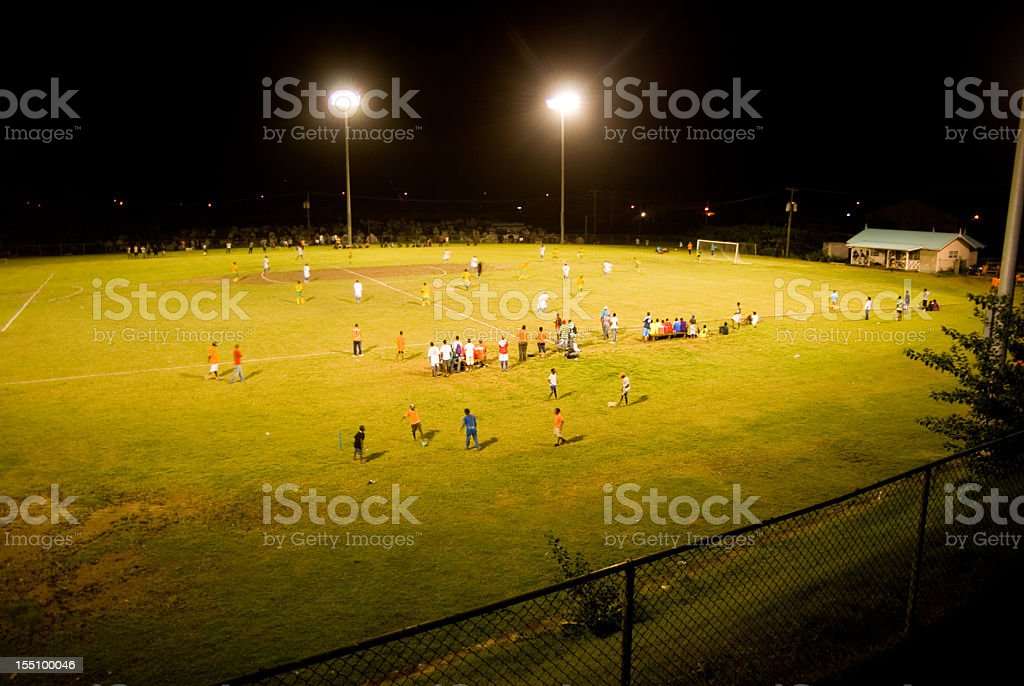playing field at night royalty-free stock photo