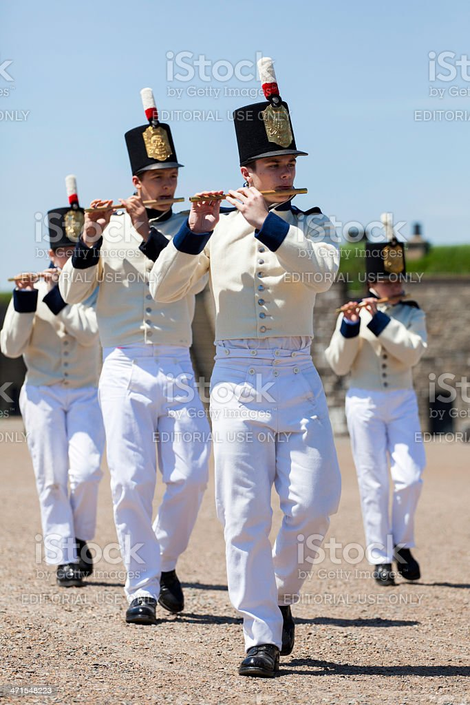 Playing Flute at Citadel Hill Anniversary royalty-free stock photo