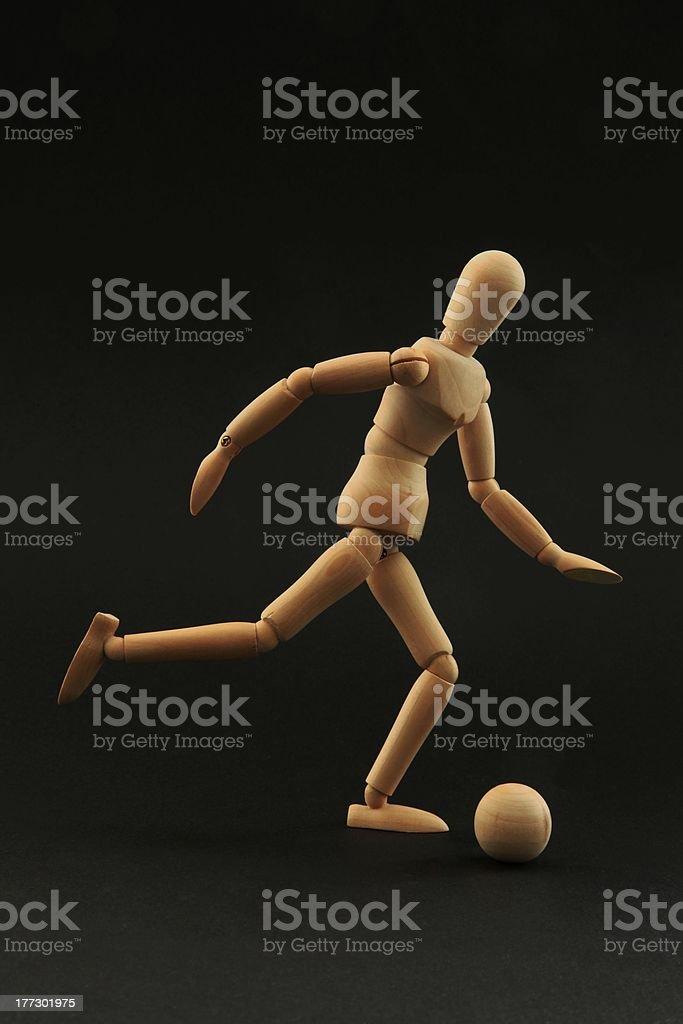 Playing football stock photo