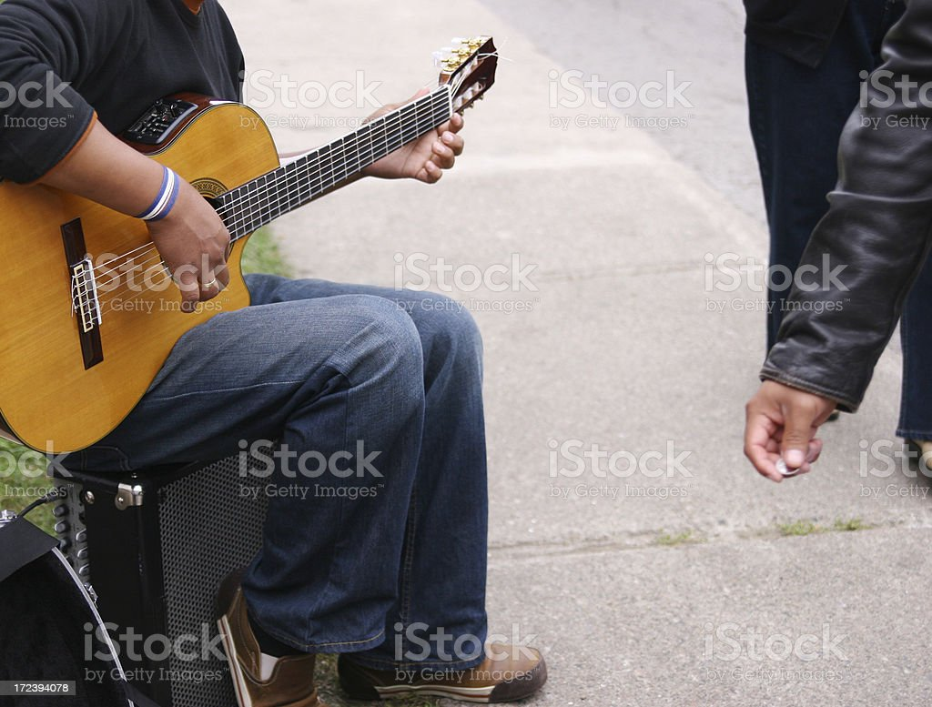 Playing for money royalty-free stock photo
