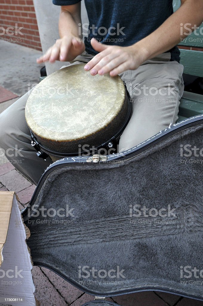 Playing for Tips royalty-free stock photo