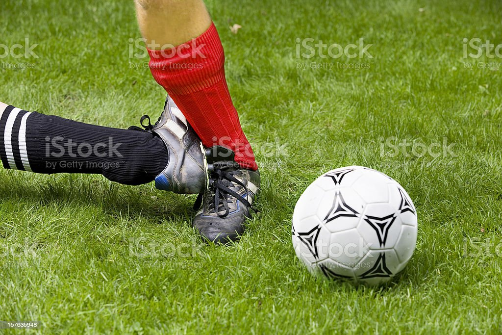 Playing foul royalty-free stock photo