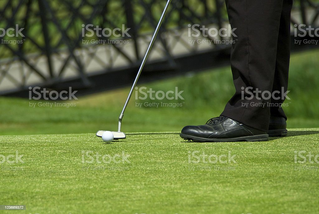 Playing golf stock photo