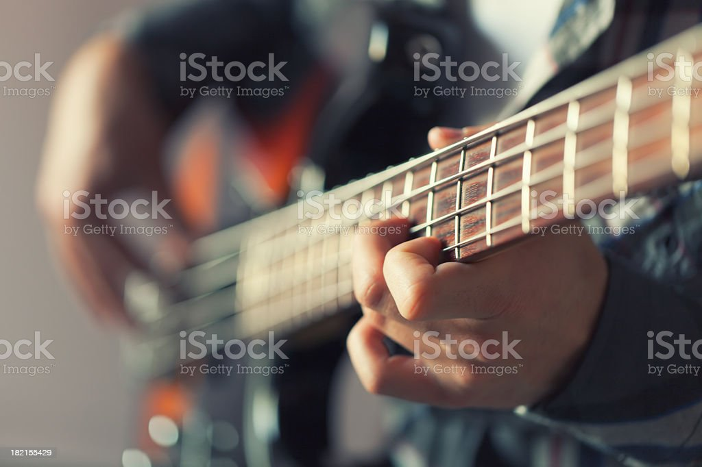 Playing Guitar stock photo