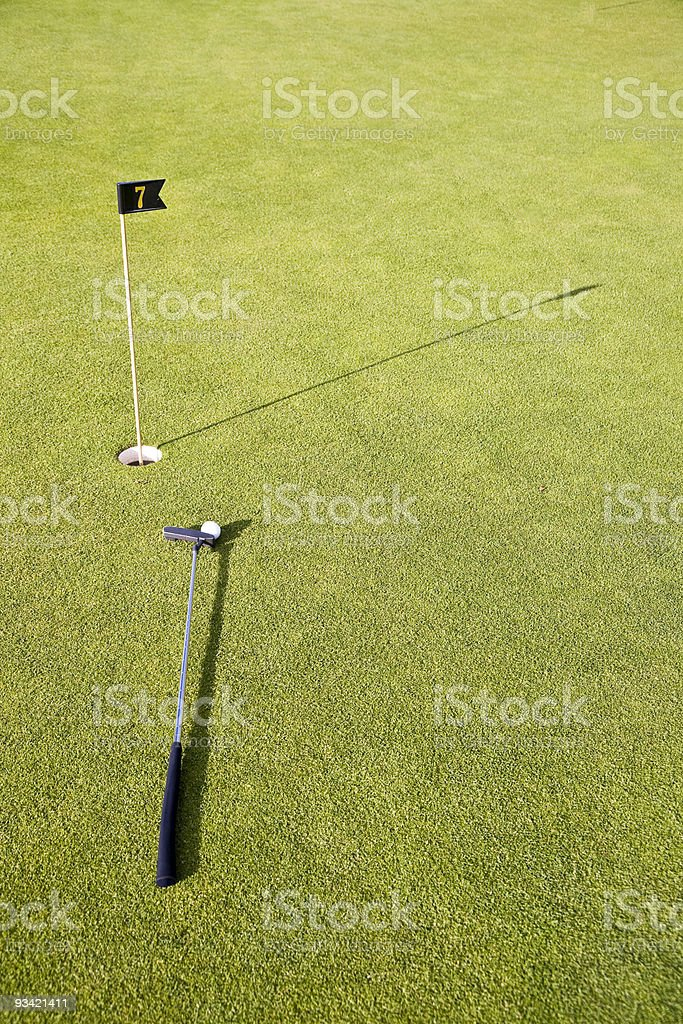 playing hole number seven. royalty-free stock photo