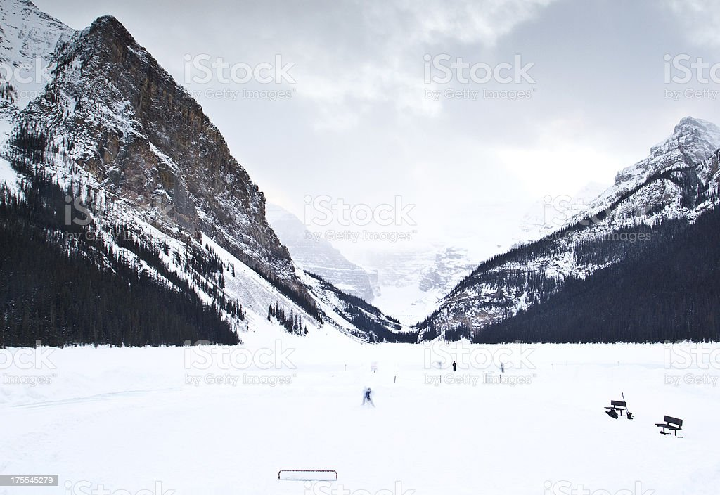 Playing Ice Hockey in Canada stock photo