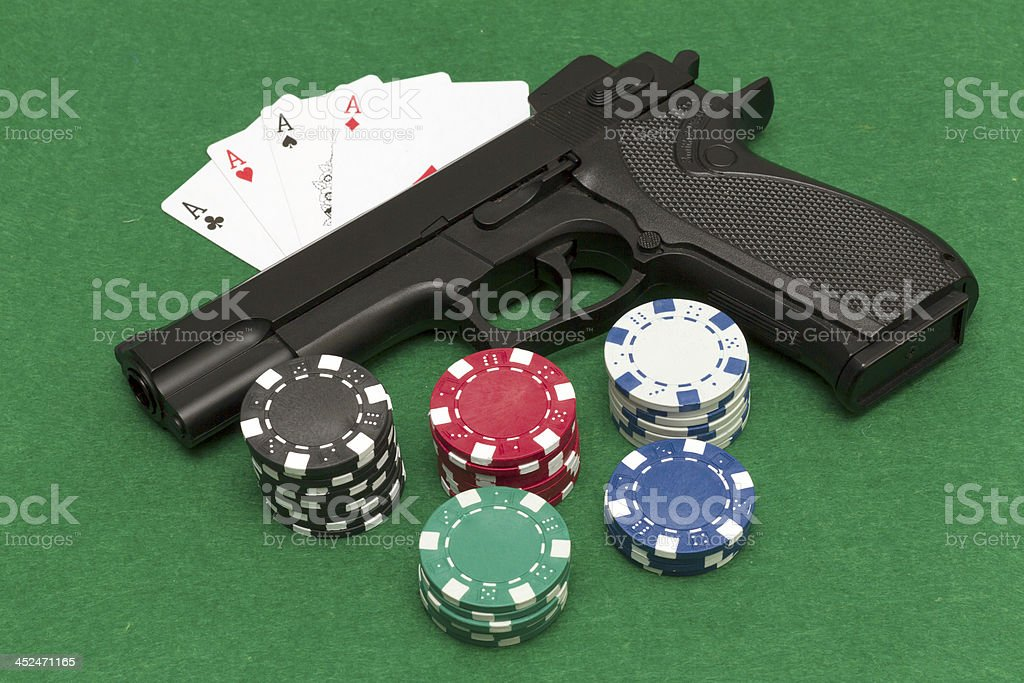 Playing illegal gambling royalty-free stock photo