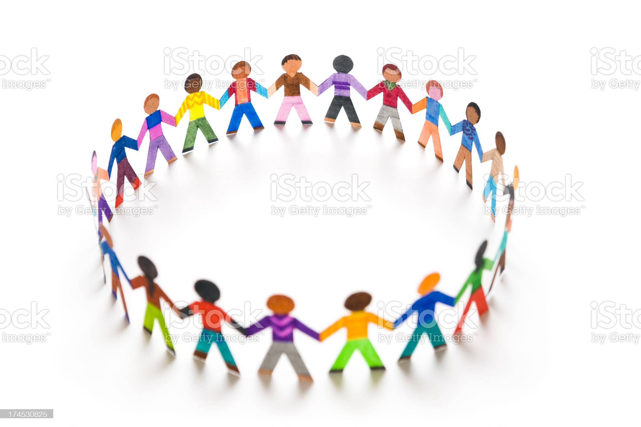 Playing in a big circle royalty-free stock photo