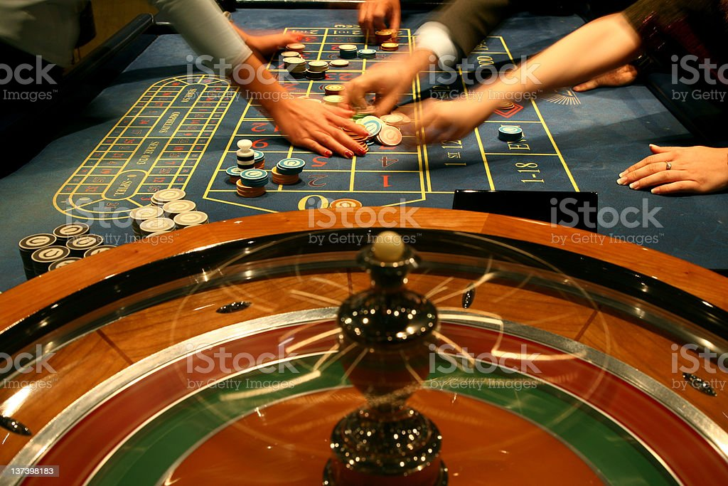 Playing in Casino stock photo