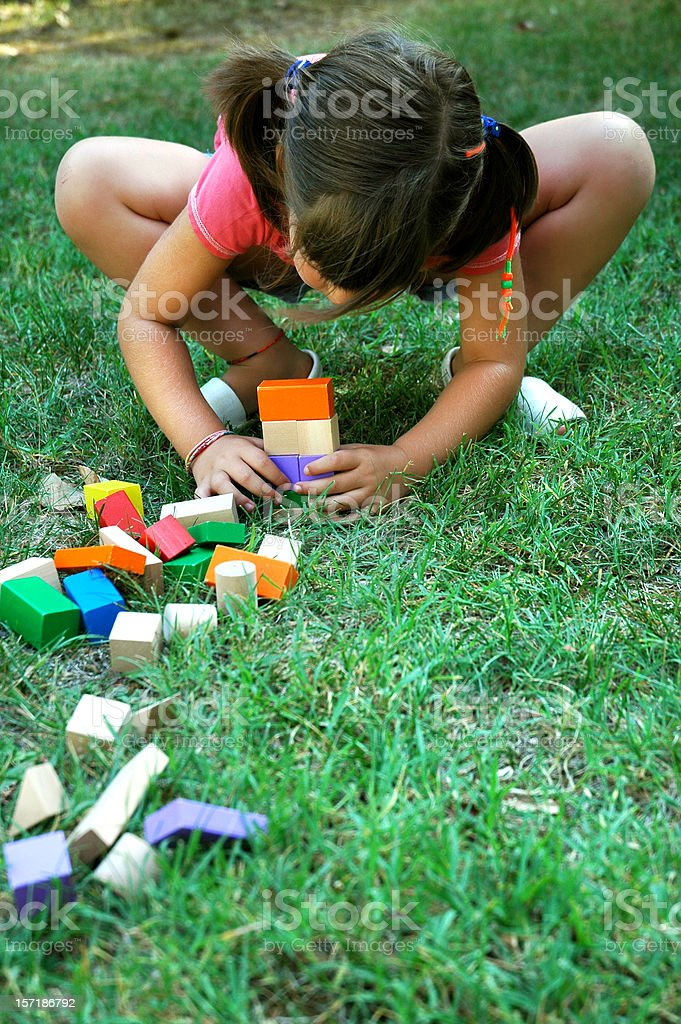 ^Playing in the garden royalty-free stock photo