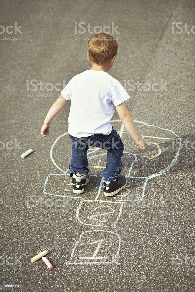 Playing in the playground royalty-free stock photo