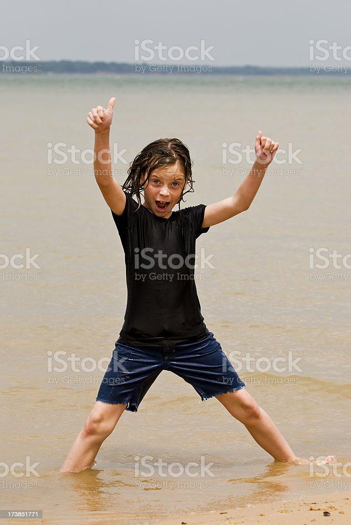 Spielen im Sand Lizenzfreies stock-foto