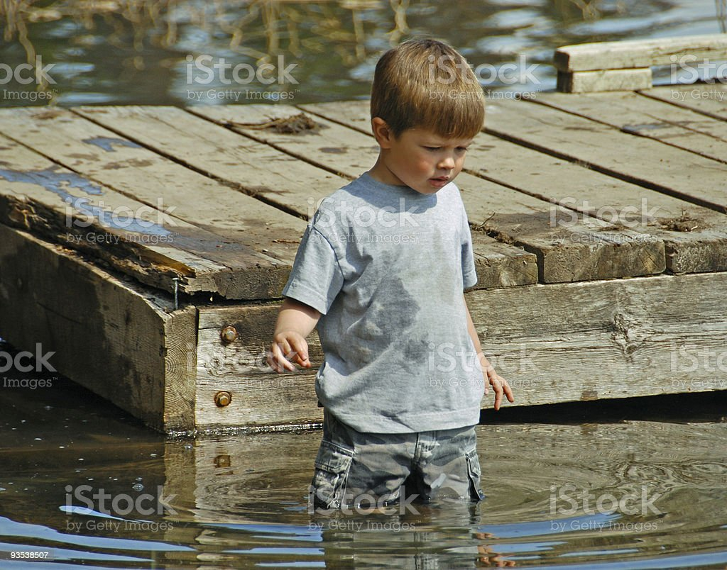 Playing in the Water royalty-free stock photo