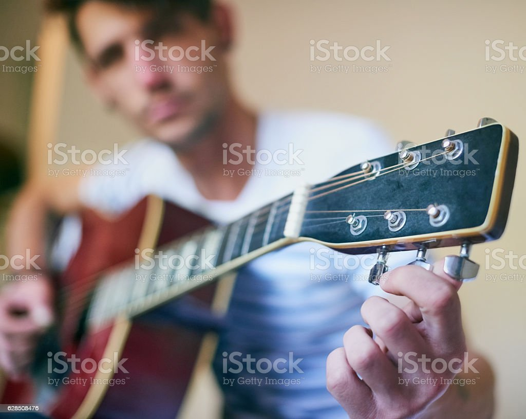 Playing in tune stock photo