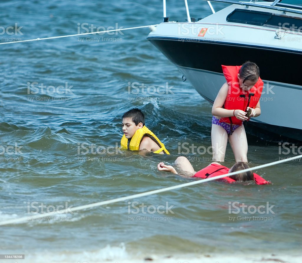 Playing in Water royalty-free stock photo