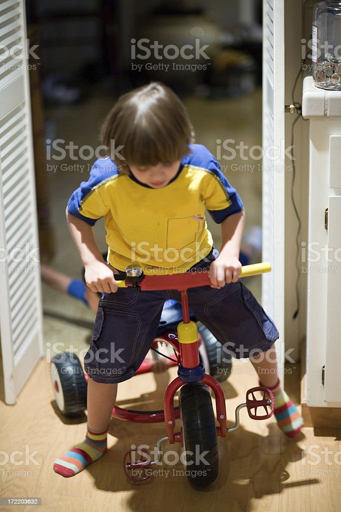 Playing indoors royalty-free stock photo